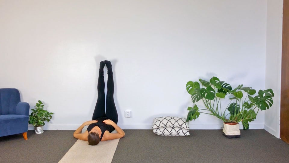 Tutorial: Legs-up-the-wall pose